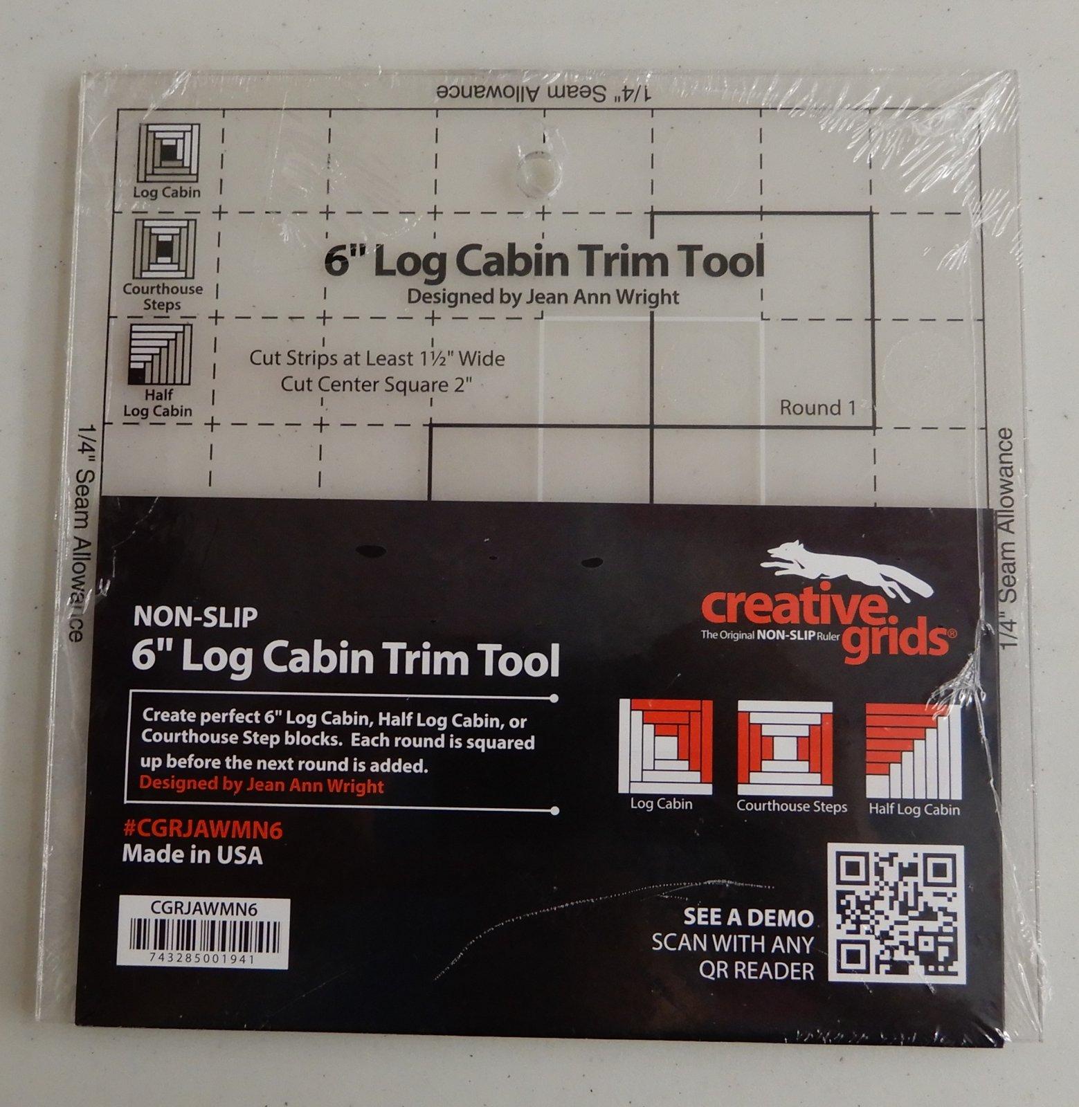 Creative Grids 6 Log Cabin Trim Tool -