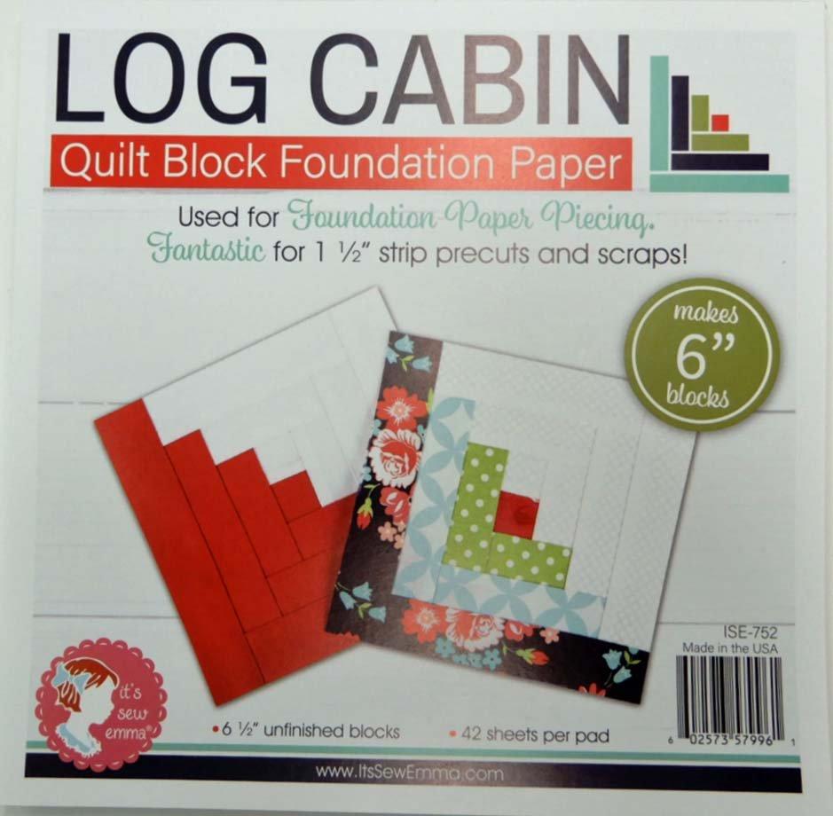 Log Cabin Foundation Paper Piecing 6 Blocks