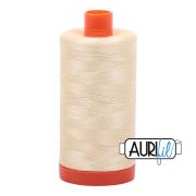 Aurifil Cotton Thread 1300 Meter Spool of 50WT Chalk - 6MK50-2026