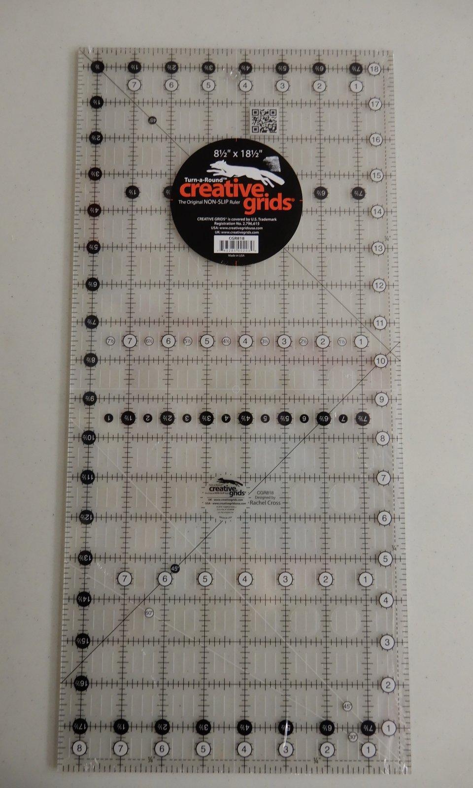 Creative Grids 81/2 X 18 1/2  Turn-a-Round Ruler