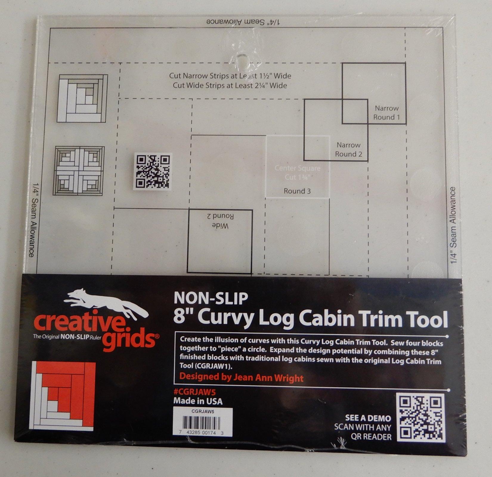Creative Grids 8 Curvy Log Cabin Trim Tool