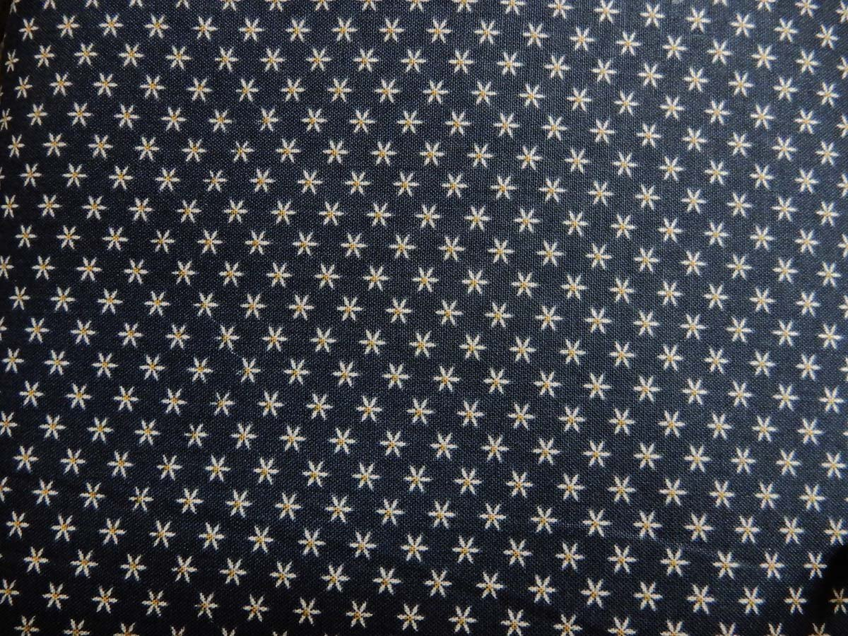Heritage Quilts Fabric: Stars with Blue Background