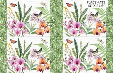 Orchids in Bloom Placemats (Set of 4) C23878-10