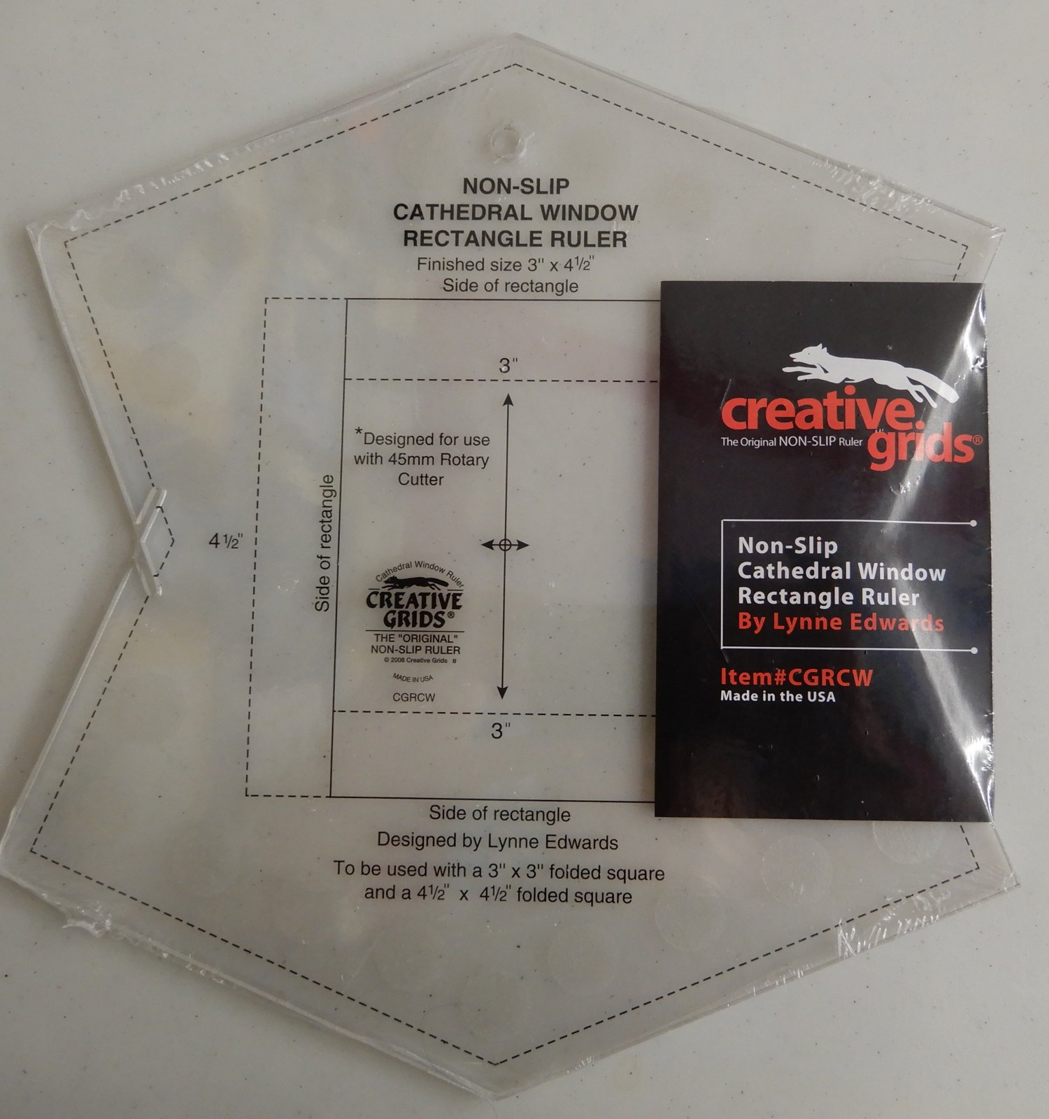 Creative Grids Cathedral Window Rectangle Ruler