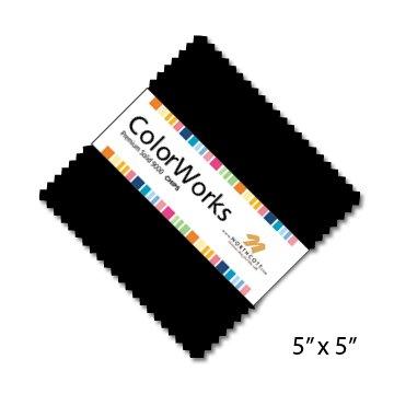 ColorWorks Premium Solid 9000 Precuts - Black Pack - Neutrals CCOLOR42-99