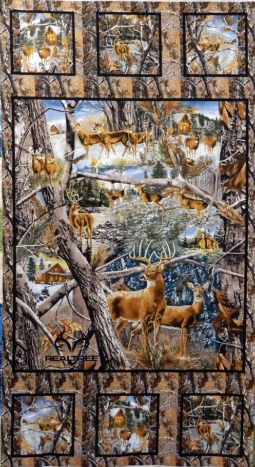 Reel Tree Winter Panel: Deer