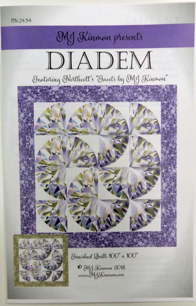 MJ Kinman - Diadem Quilt kit