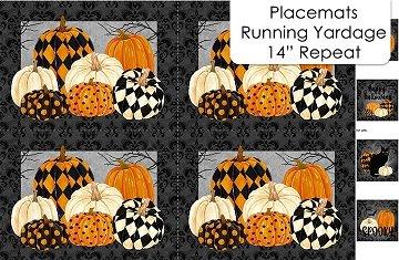 Black Cat Capers - Black Multi Placemats - DP24127-99