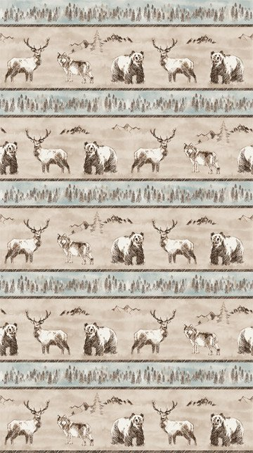 Misty Mountain - Taupe Flannel