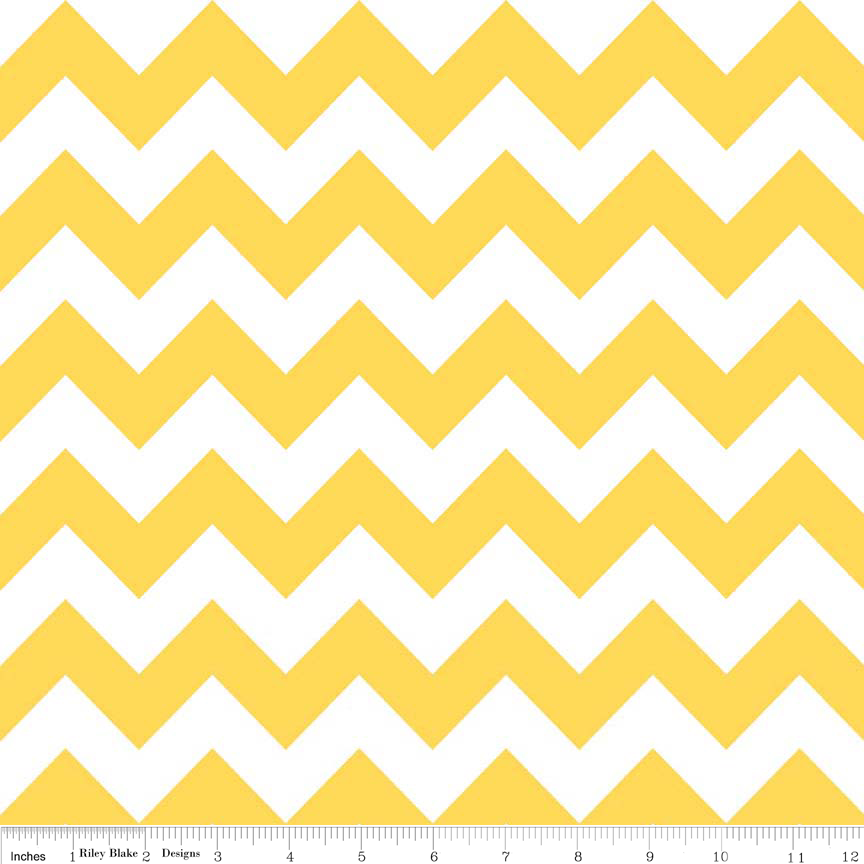 Yellow Medium Chevron Flannel - F320-50