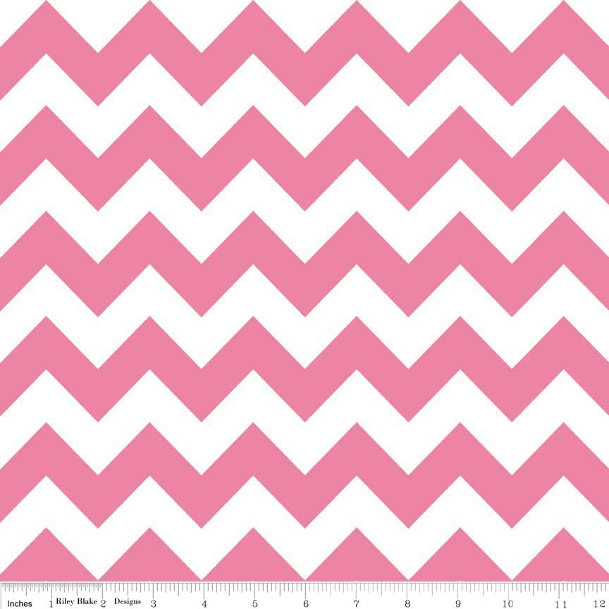 Hot Pink Medium Chevron Flannel - F320-70