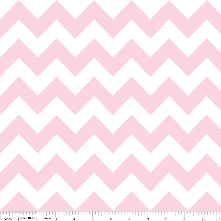 Baby Pink Medium Chevron Flannel - F320-72