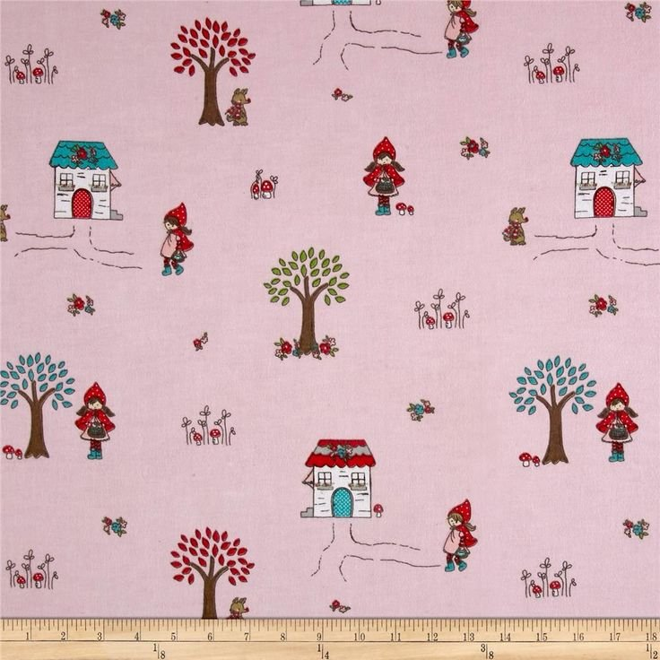 Little Red Riding Flannel - Pink - F3270