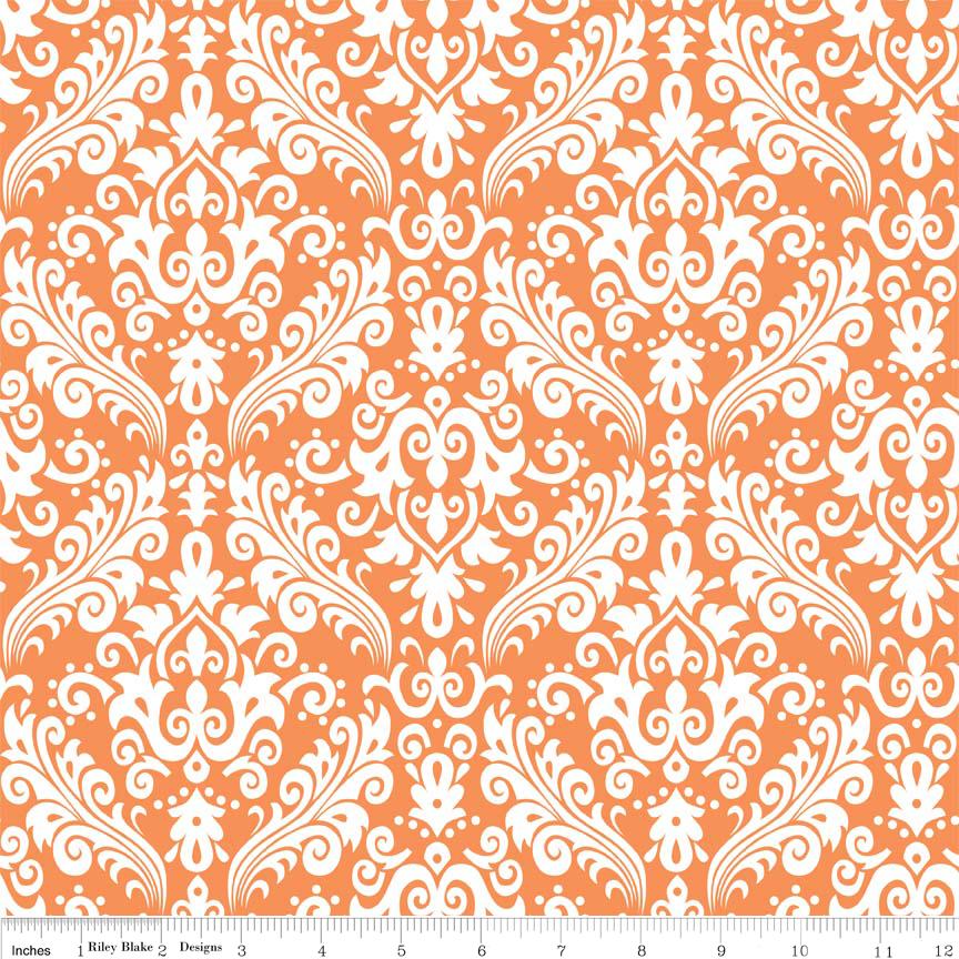 Hollywood White on Orange Flannel - F830-60-Orange