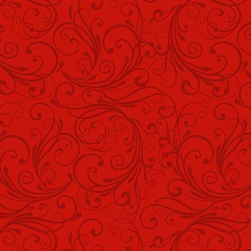 Winter Frost - Red Swirl Flannel