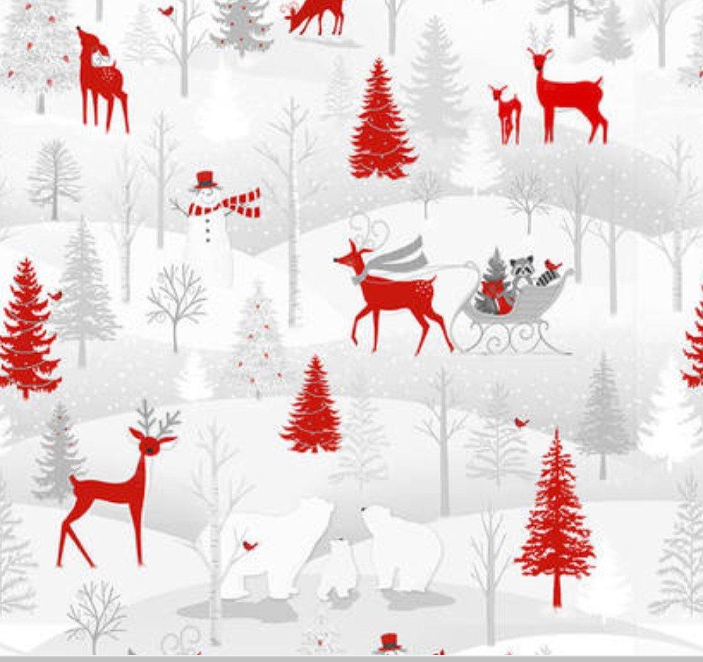 Winter Frost White Flannel