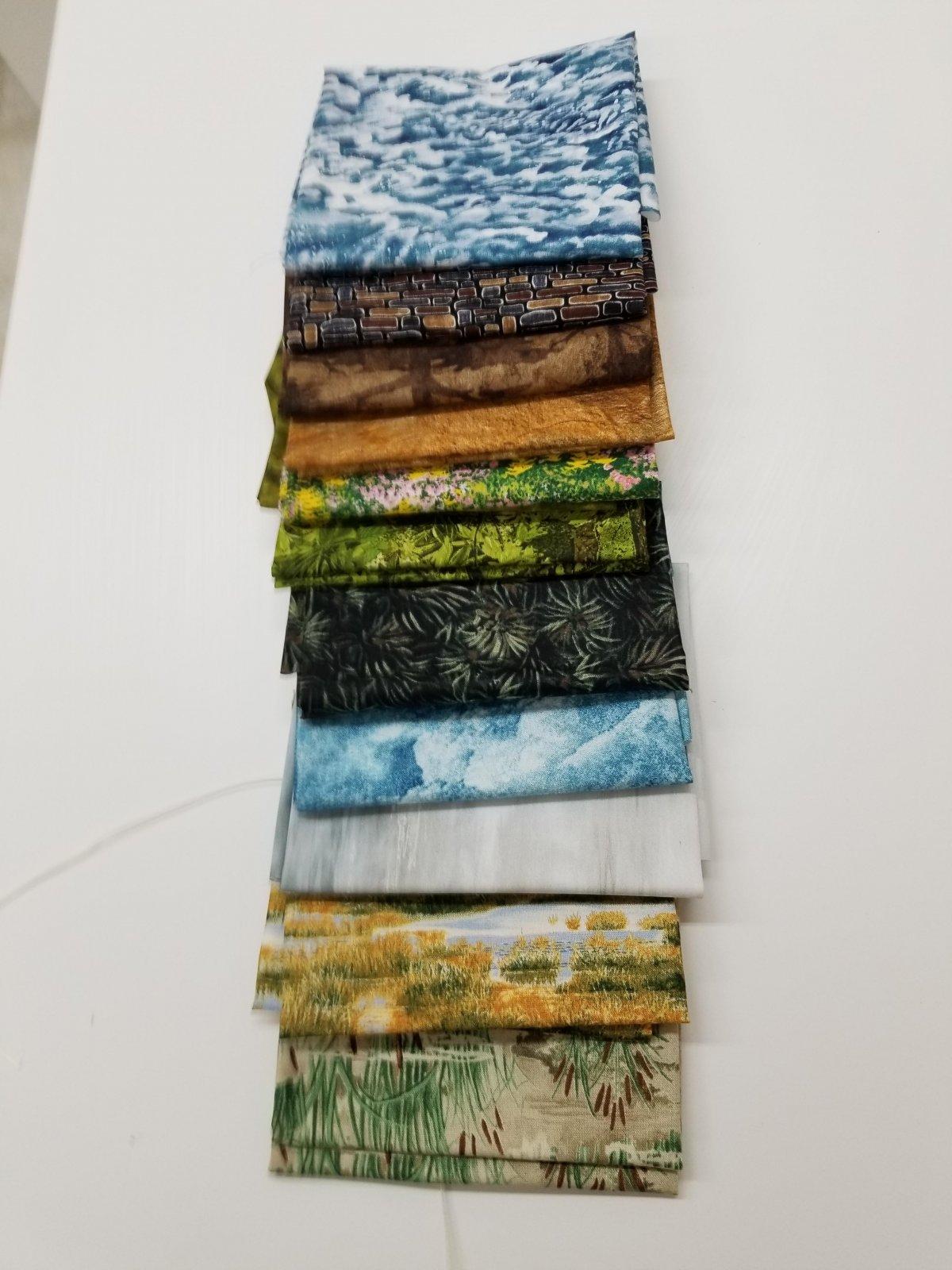 01 Landscape Fat Quarters Bundle of 12