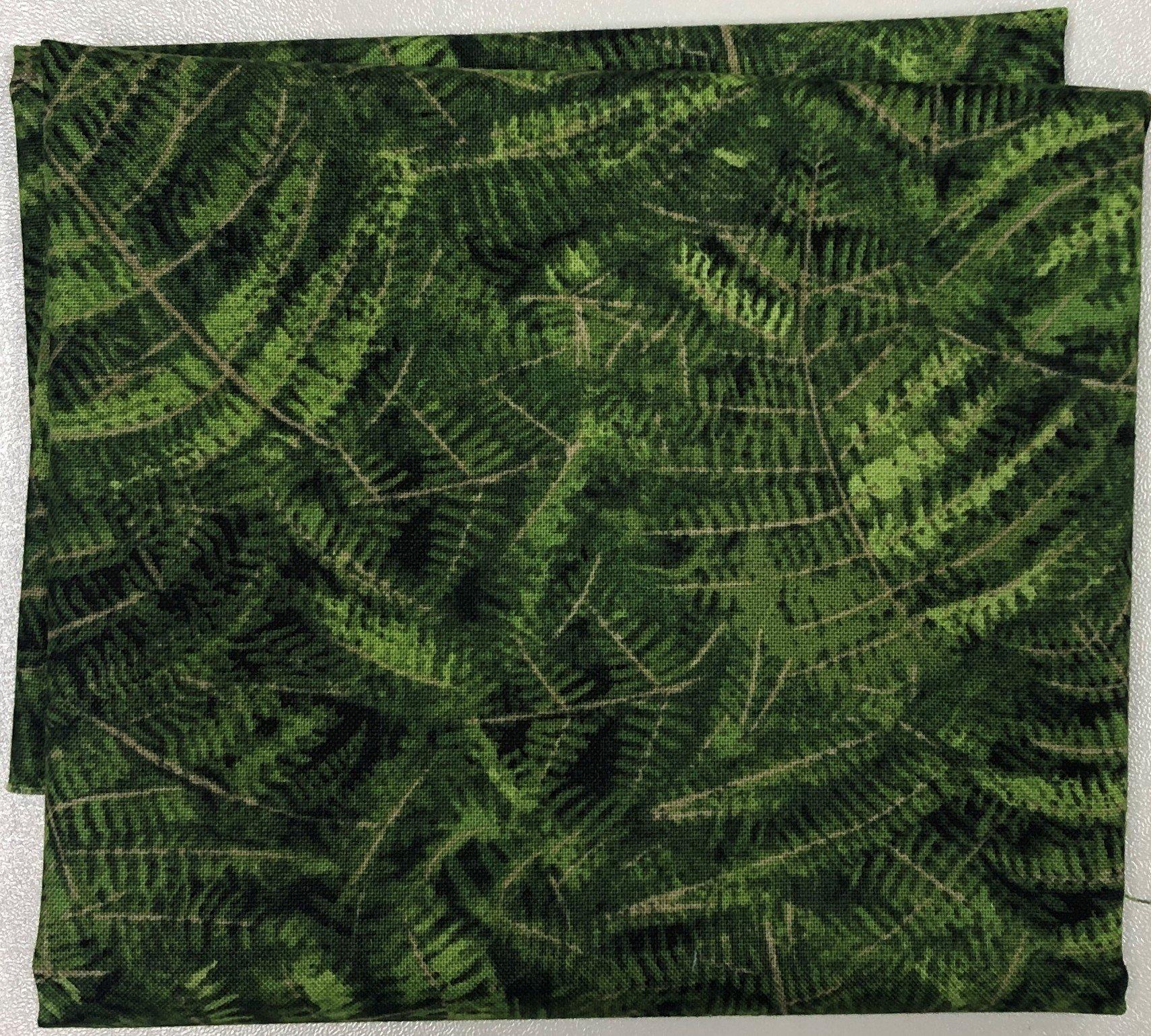 Green Ferns - Fat Quarters 20x22 - FQ001