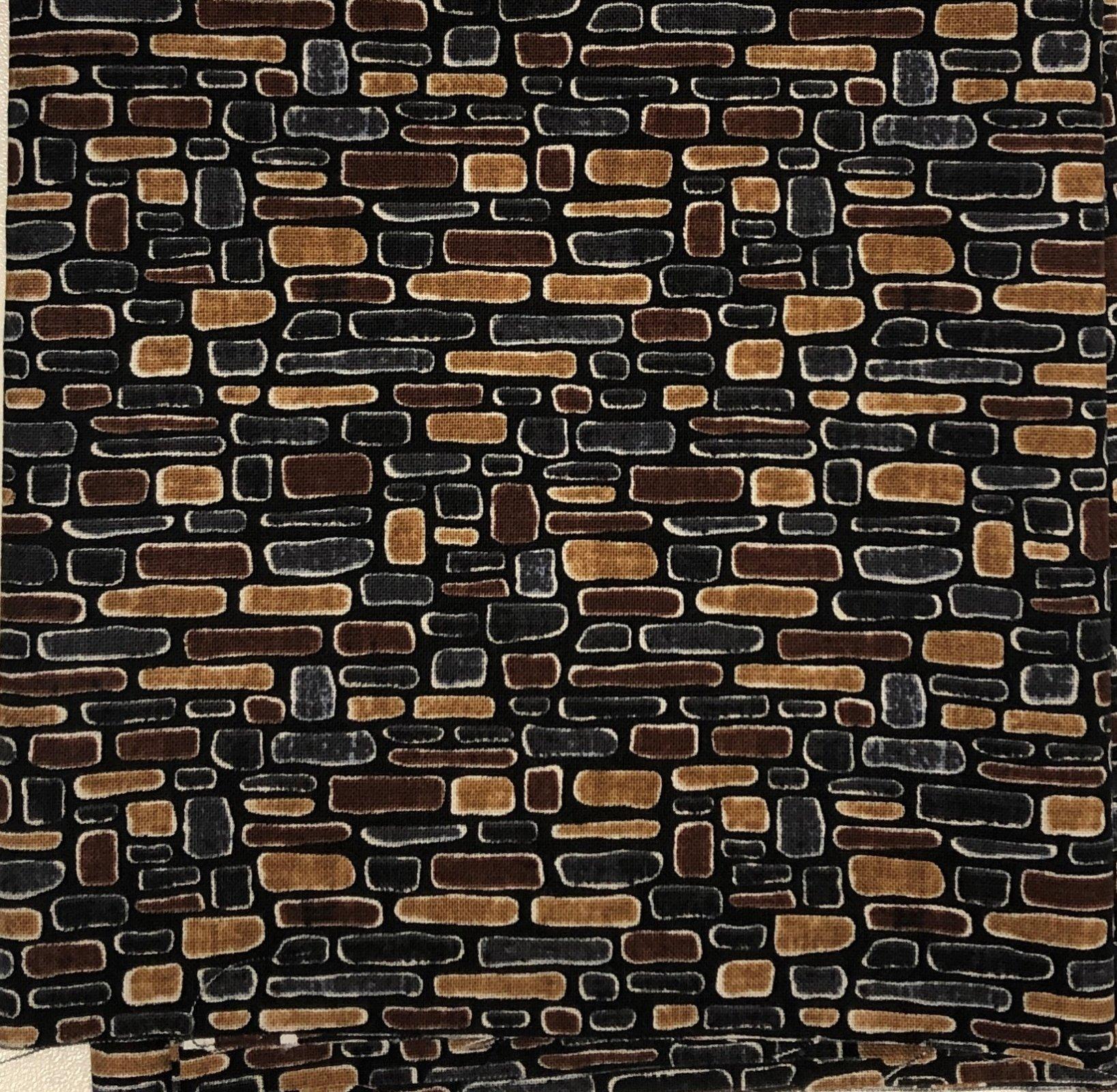 Brown Stone Wall - Fat Quarters 20x22 - FQ015