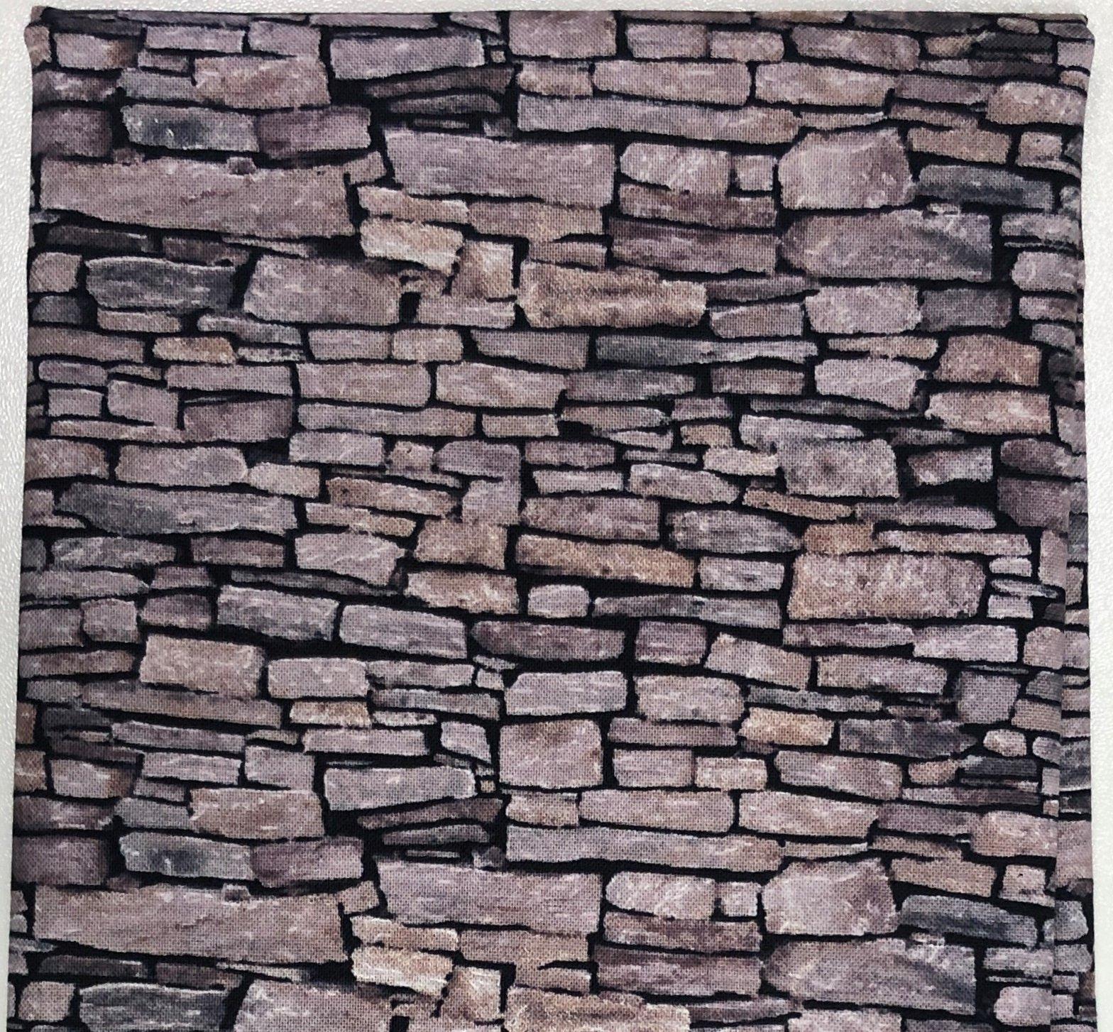 Tan Stone Wall - Fat Quarters 20x22 - FQ017