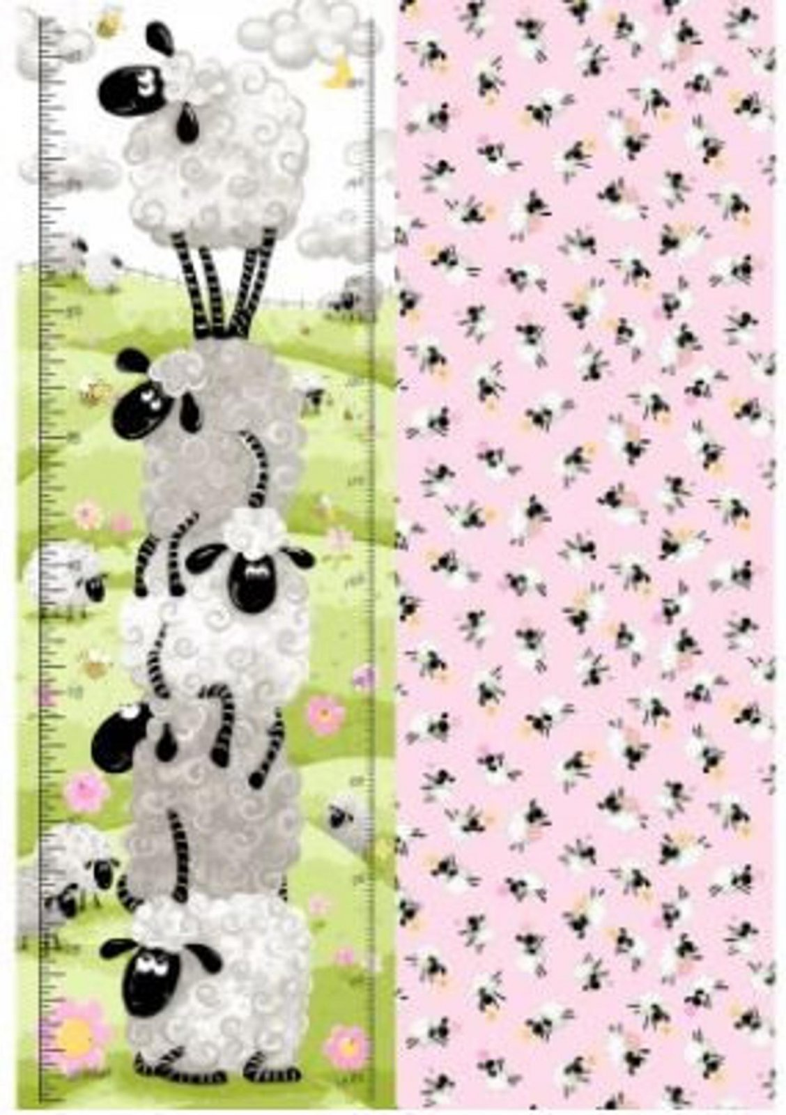 Lal the Lamb Growth Chart Panel  30 x 43 (Front and Back)