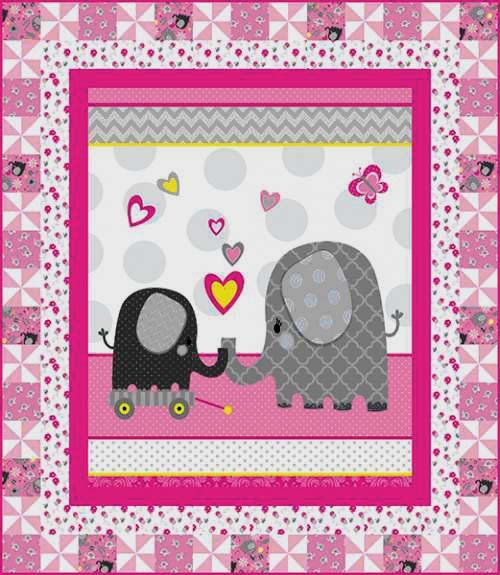 Hello Baby Quilt Kit - in Pink