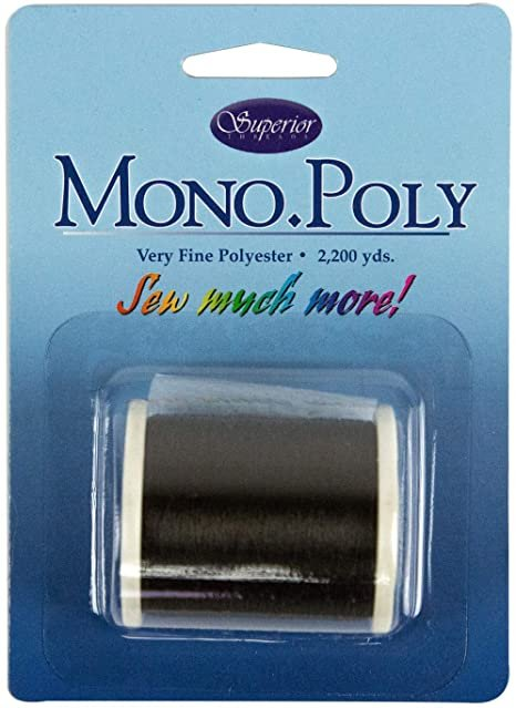 Mono Poly Superior Threads Black 2,200 yds.