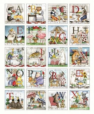 Hungry Animal - Alphabet Patch P10180R-PANE