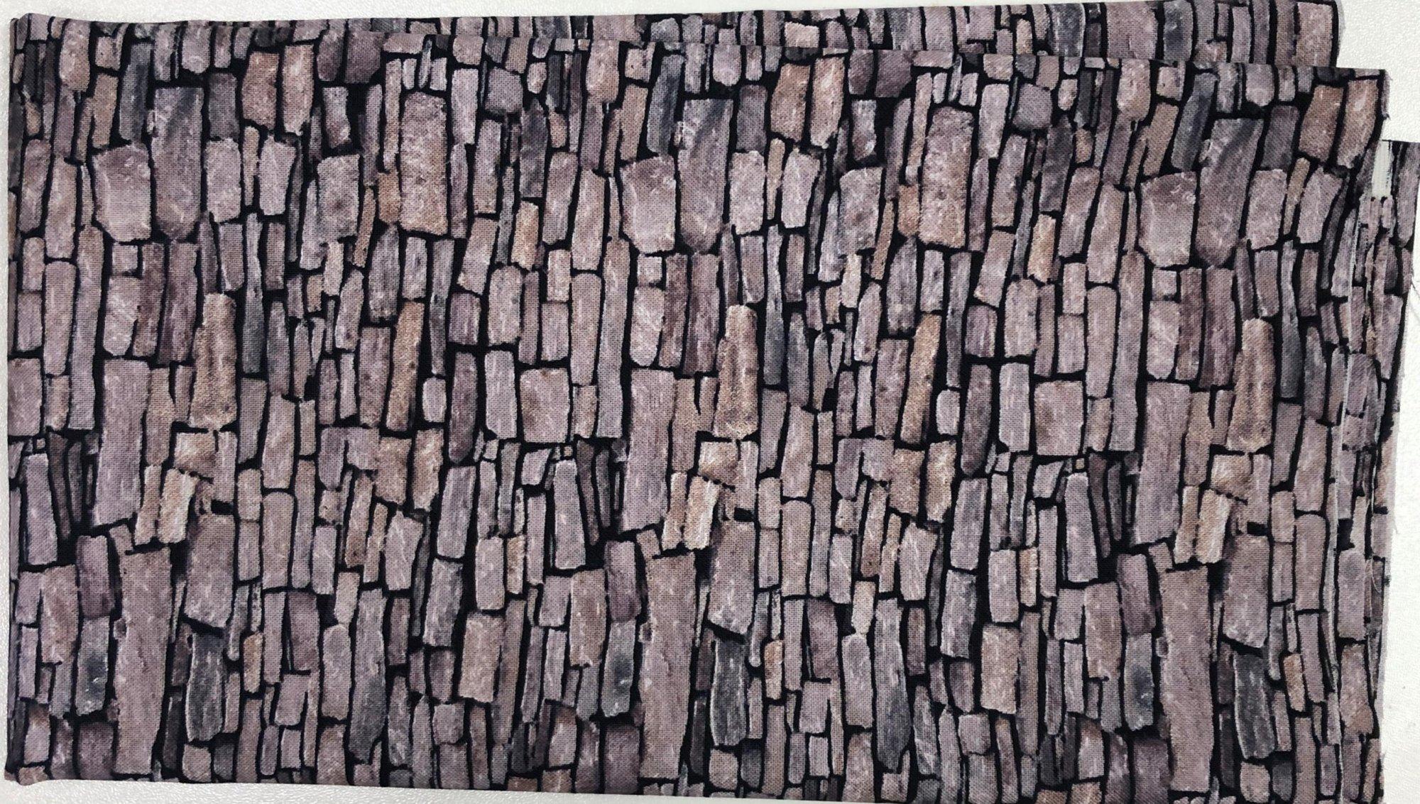 Tan Stone Wall - Pre-cut 1/2 meter 20x42 - PC017