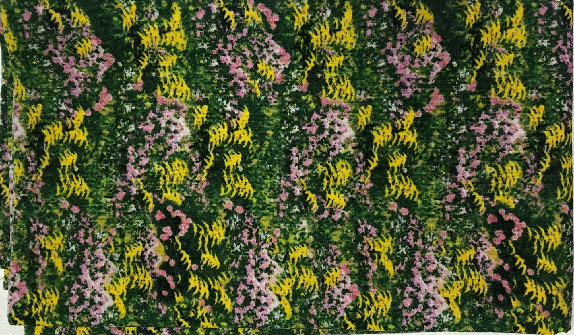 Yellow and Pink Flowers - Pre-cut 1/2 meter 20x42 - PC018