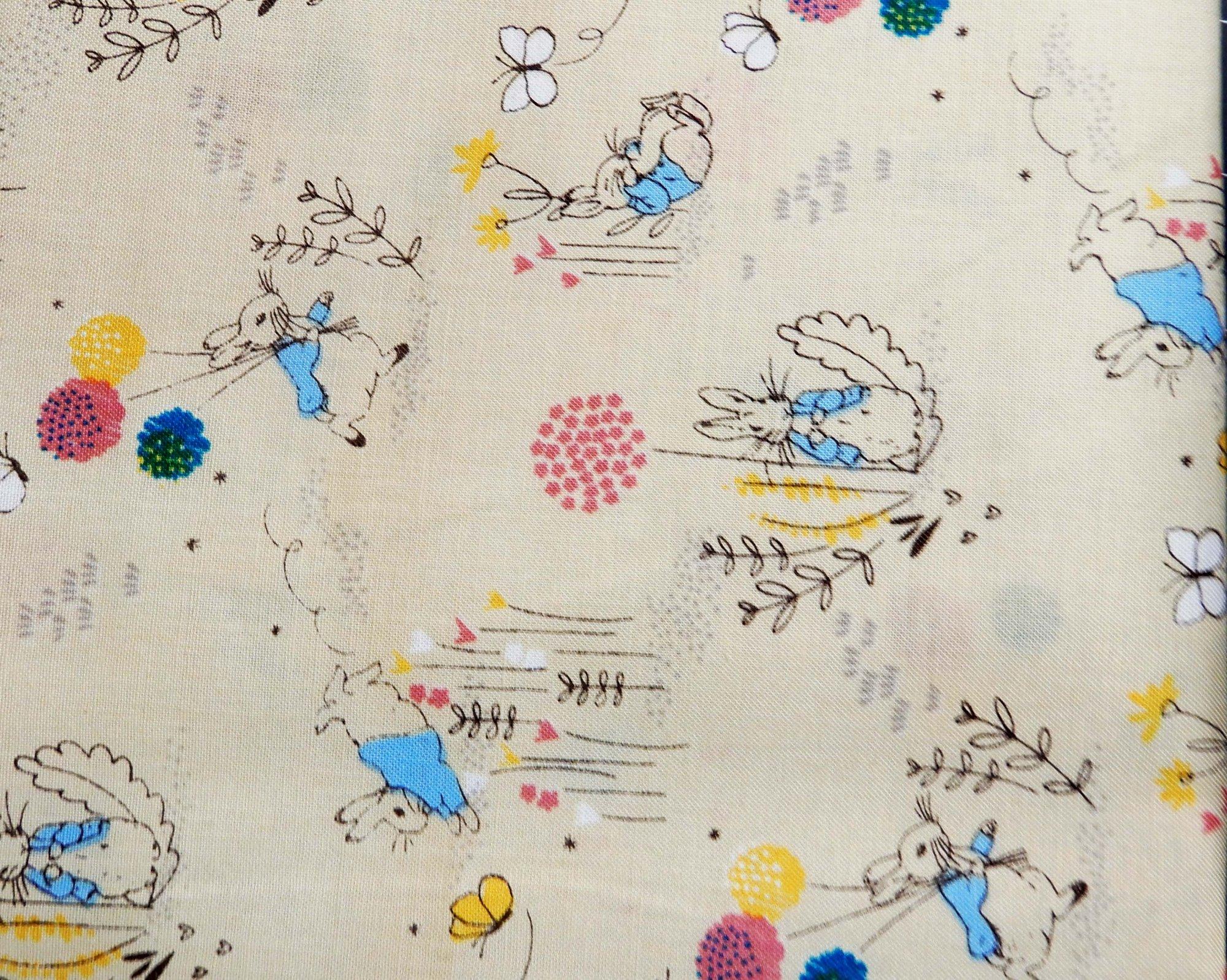 Peter Rabbit Fabric -Cream Dandelion