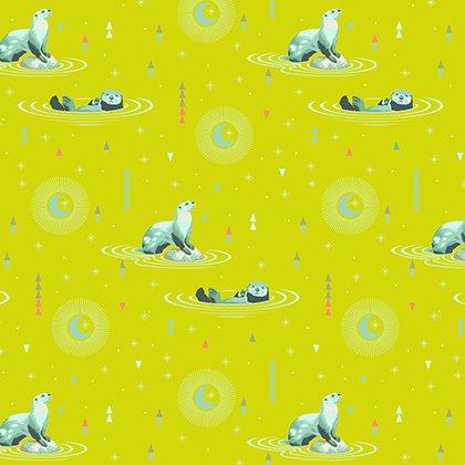 Tula Pink Fabric: Spirit Animal Otter & Chill Sunkiss