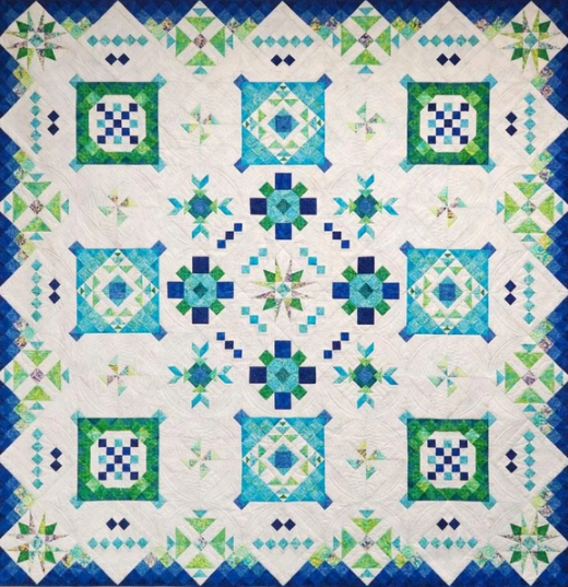 Sea Islands Block of the Month 100 x 100 - Month 06