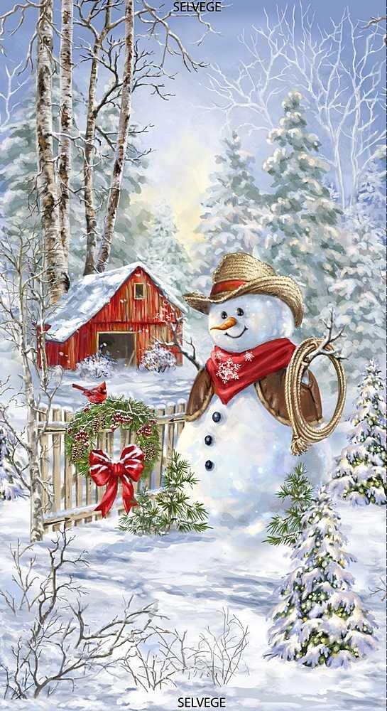 015 - Cowboy Snowman