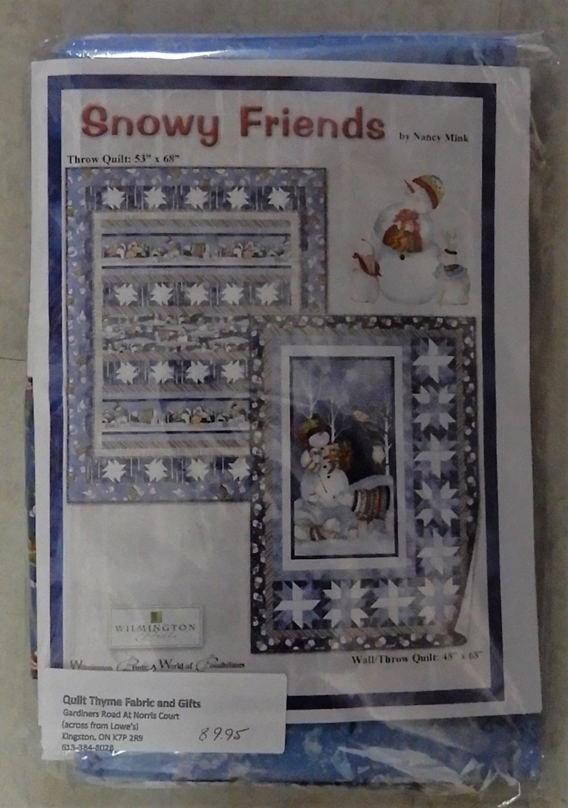 Snowy Friends Wall Throw Quilt Kit