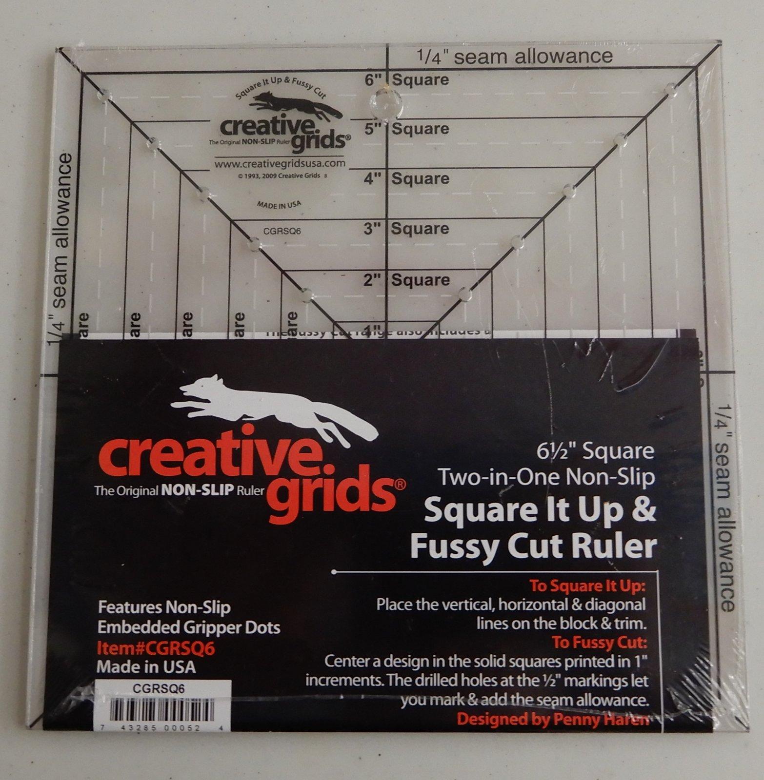Creative Grids 6 1/2 Square It Up & Fussy Cut Ruler