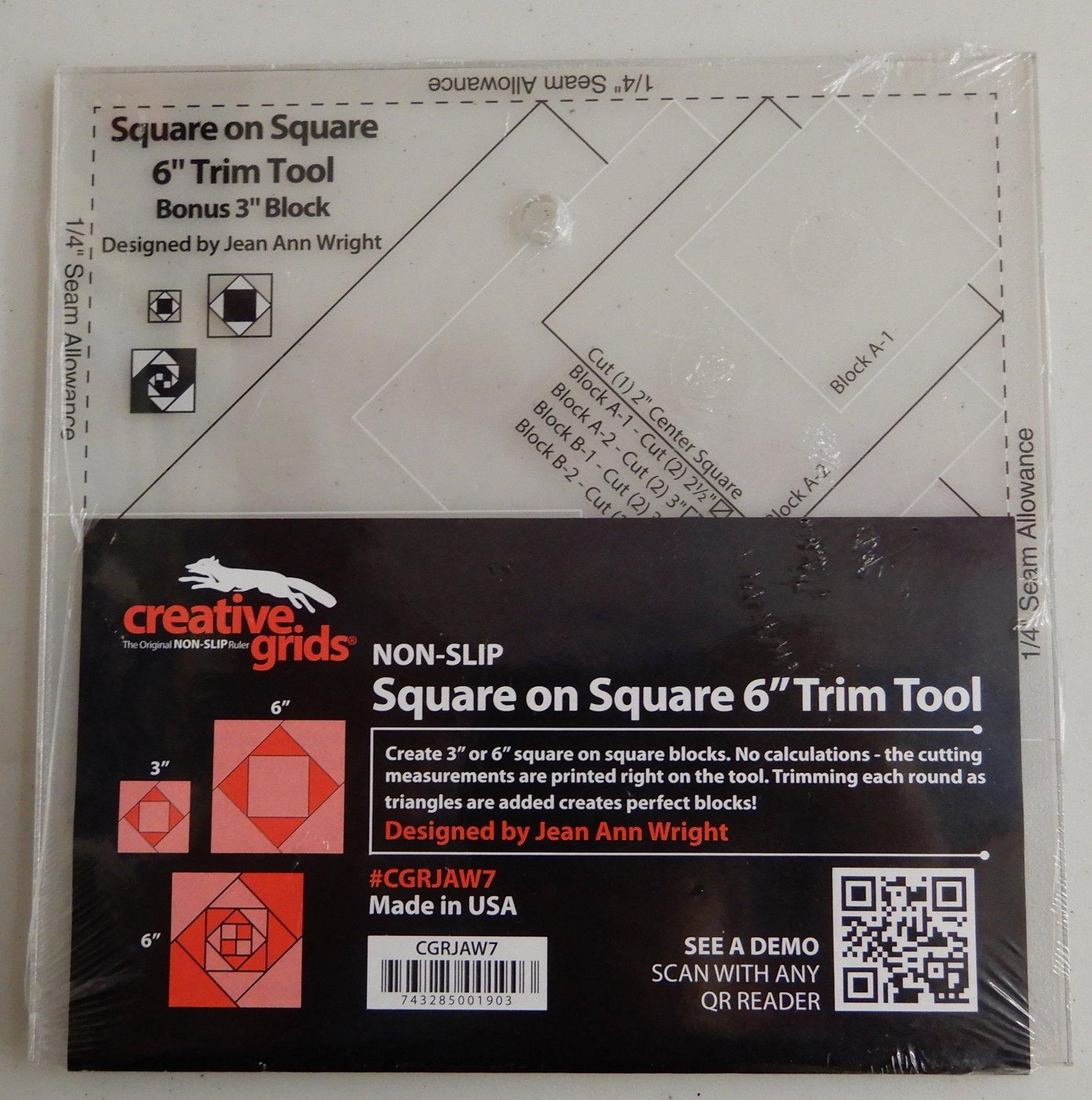 Creative Grids 6 Square on Square Trim Tool