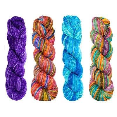Estelle Nightshift Shawl Kit blue/purple