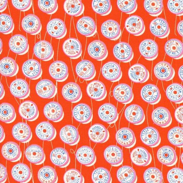 Spools in orange