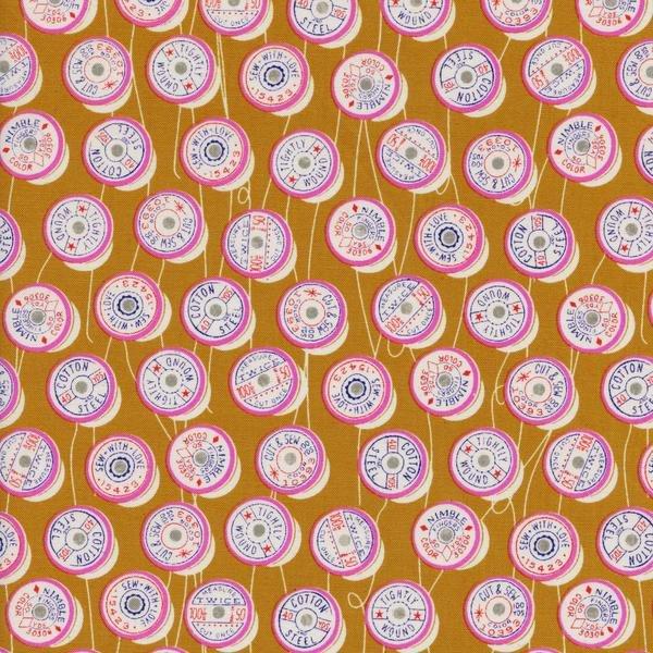 Spools in Yellow