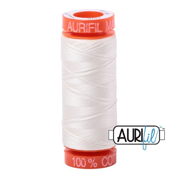 Aurifil 50 WT Cotton (Chalk) 220 yd