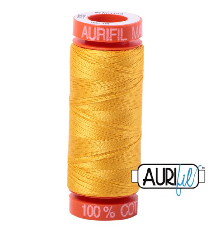 Aurifil 50 WT Cotton (Yellow) 220 yd