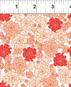Carnation in Coral White