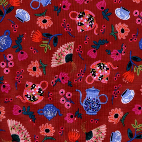 Garden Party in Crimson