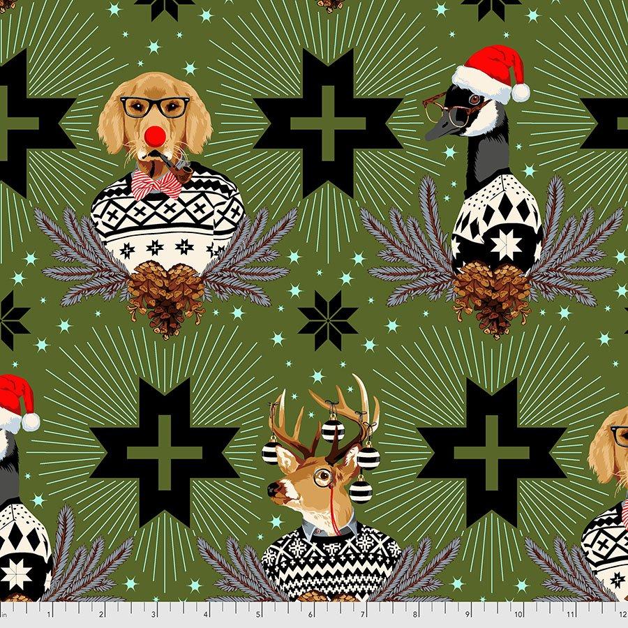 PRE-ORDER | Holiday Homies Flannel - Buck, Buck, Goose in Pine Fresh