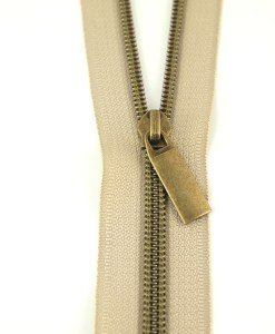Zippers By The Yard Beige Tape Antique Teeth #5