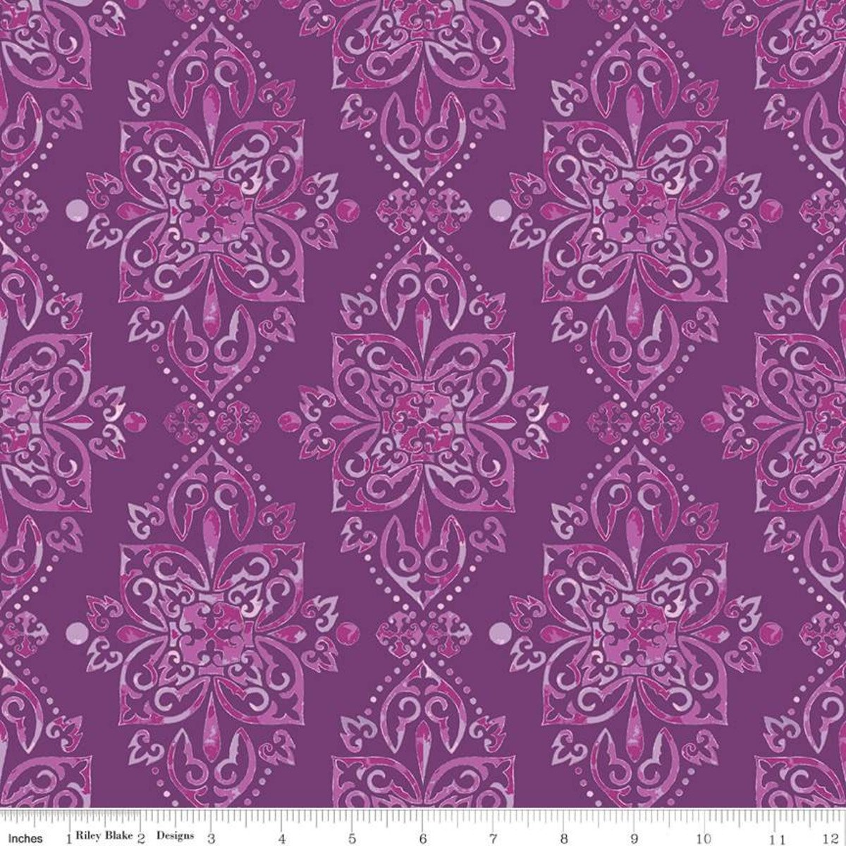 Hampton Garden Damask Purple