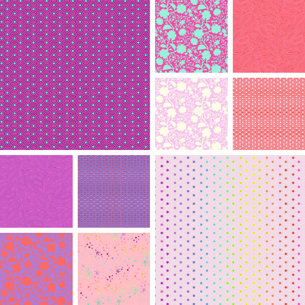PRE-ORDER | True Colors-Flamingo Fat Quarter Bundle (10)