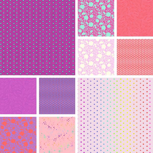 True Colors-Flamingo Half Yard Bundle (10)