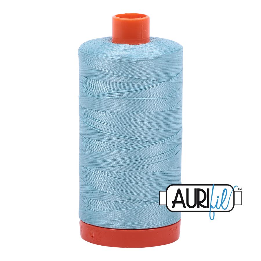 Aurifil 50wt #2805 Light Grey Turquoise